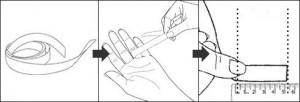 מדידת אצבע בעזרת סרט